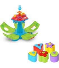 brinquedo educativo maral penta formas com som multicolorido - verde - dafiti