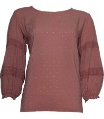 20 to a20351 067 blouse lurex dots rosa