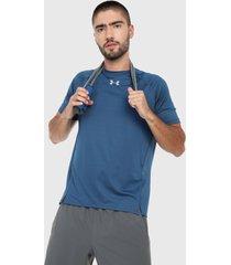 camiseta azul-blanco under armour ua qualifier hexdelta