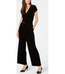 alfani velvet wide-leg jumpsuit, created for macy's