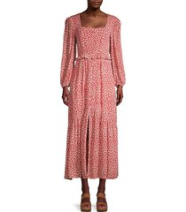 lost + wander women's madison maxi dress - coral - size m