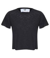 camiseta feminina soleah - preto