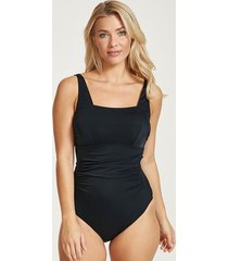 rene underwire square neck tummy control one-piece swimsuit d-gg - longer length