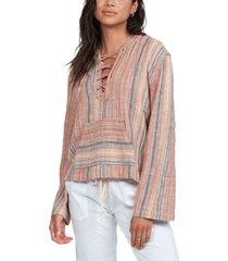 women's cabo trip long sleeve poncho