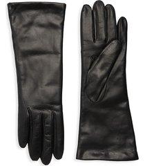 portolano women's classic leather gloves - black - size 8