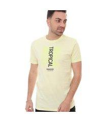 camiseta ca12in masculina tropical block amarela