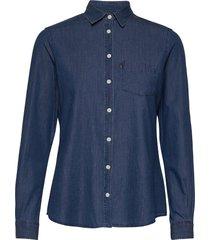 emily denim shirt overhemd met lange mouwen blauw lexington clothing