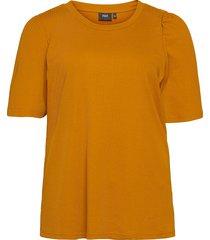 t shirt rib plus puff sleeves round neck blouses short-sleeved gul zizzi