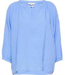 hikmapw bl blouse lange mouwen blauw part two