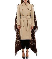 trench coat with monogram cape