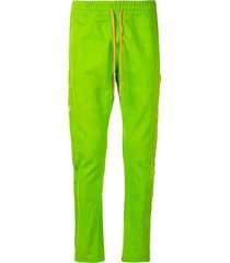 just don jungle canvas track pants - green