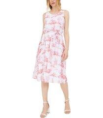 inc chiffon toile midi dress, created for macy's