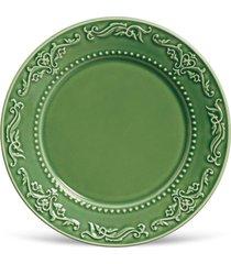 conjunto 6pã§s pratos rasos porto brasil acanthus verde - verde - dafiti