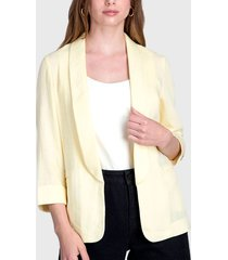 chaqueta ash amarillo - calce regular