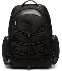 canali zip-up backpack - black