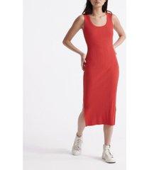 superdry women's sahara knit midi split dress