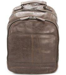 men's frye logan leather backpack - brown