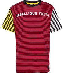 mason ry t-shirt t-shirts short-sleeved röd wesc