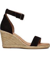 erin sandalette med klack espadrilles svart pavement