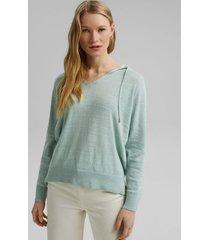 sweater con capucha verde claro esprit