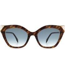 fendi fendi ff 0357/g/s havana sunglasses