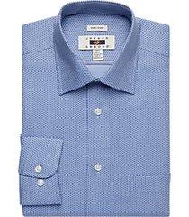joseph abboud blue dot modern fit dress shirt