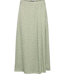 marielle skirt knälång kjol grön just female