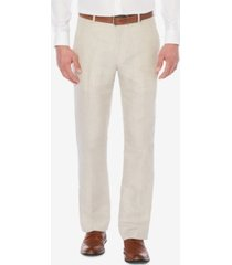 perry ellis men's classic-fit linen pants