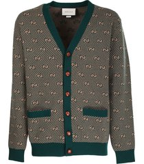 gucci green and camel cardigan