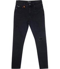 jeans pitillo negro  pillin
