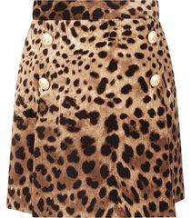 dolce & gabbana animalier print skirt for girl