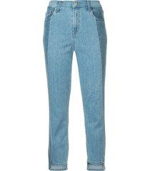j brand ruby cropped cigarette jeans - blue
