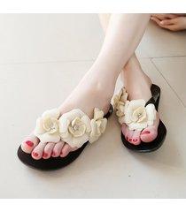 flor de moda chanclas mujer sandalias pisos zapatillas de pvc