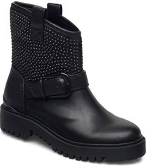 orica/stivaletto /leat shoes boots ankle boots ankle boot - flat svart guess