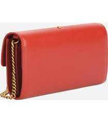 pinko women's love wallet simply 2 - ruby red