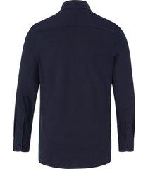 jersey-overhemd met kentkraag van olymp blauw