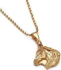 koń mini wisiorek ze złoconego srebra