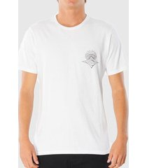 camiseta rip curl scorched earth tee branca masculina