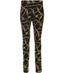 leggings estampado cadenas color negro, talla 10