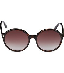 stella mccartney women's 56mm round core sunglasses - havana