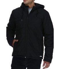 chaqueta foundation interior quilt jacket nylon negro cat