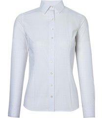 camisa dudalina manga longa tricoline estampado feminina (estampado, 46)