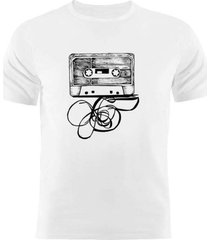 camiseta manga curta nerderia fita cassete branco - branco - masculino - dafiti