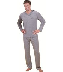 pijama  monthal cinza