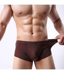7e8c080941c6 intimo di seta ghiaccio sottile boxer in nylon traspirante colore puro senza  cuciture per uomo