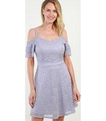 vestido de encaje cute lila night concept