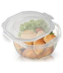 pote plástico para microondas freezer grande com trava 2,3l