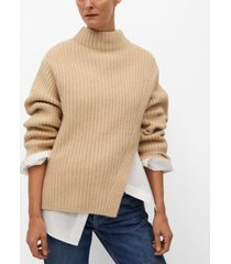 mango women's cut-out knitted sweater