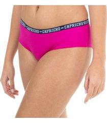 calcinha boy short rosa capricho college - 520.024 capricho lingerie boneca rosa