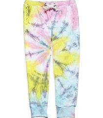 little girl's tie-dye joggers